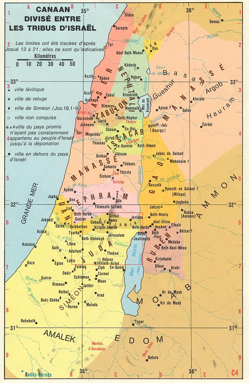Israel en guerre Carte-Canaan_et_tribus_d-Israel-MR